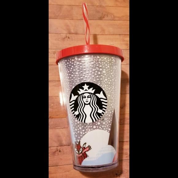 Starbucks Winter Holiday Red Fox Tumbler